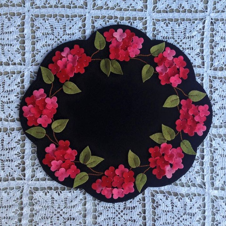 by Kelly Hurtado Mora, hydrangea table mat by Primitive Gatherings