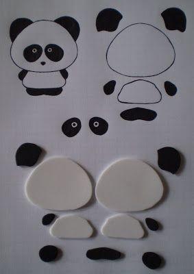 Manualidades y Arte: Cómo hacer un llavero de osa panda paso a paso