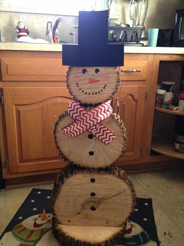 pin by rustic decor on created with wood pinterest snowman christmas and log snowman