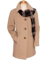 Women's London Fog Towne by London Fog Wool Coat with Scarf