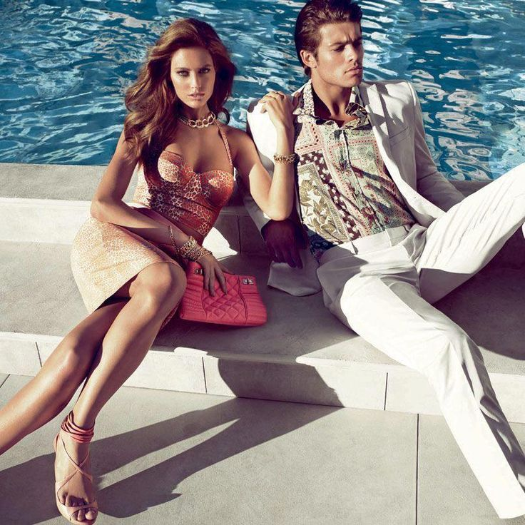 Hot Versace couple on a private yacht <3