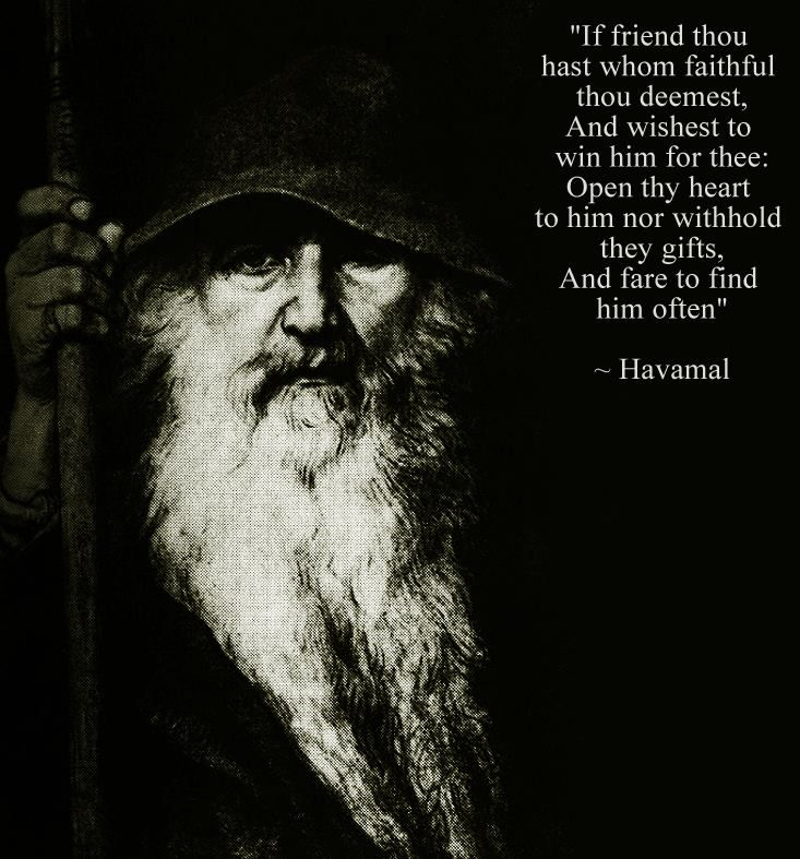 Norse Pagan Quotes Quotesgram: Friends And True Friends