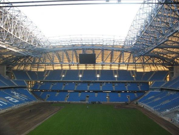 Municipal Stadium in Poznan, Poland (seats 40,000, opened in 40,000)