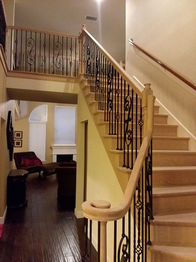 Best Styles Of Wrought Iron Stairs Spindles Change Wood Stairs To Wrought Iron Dallas Texas 400 x 300