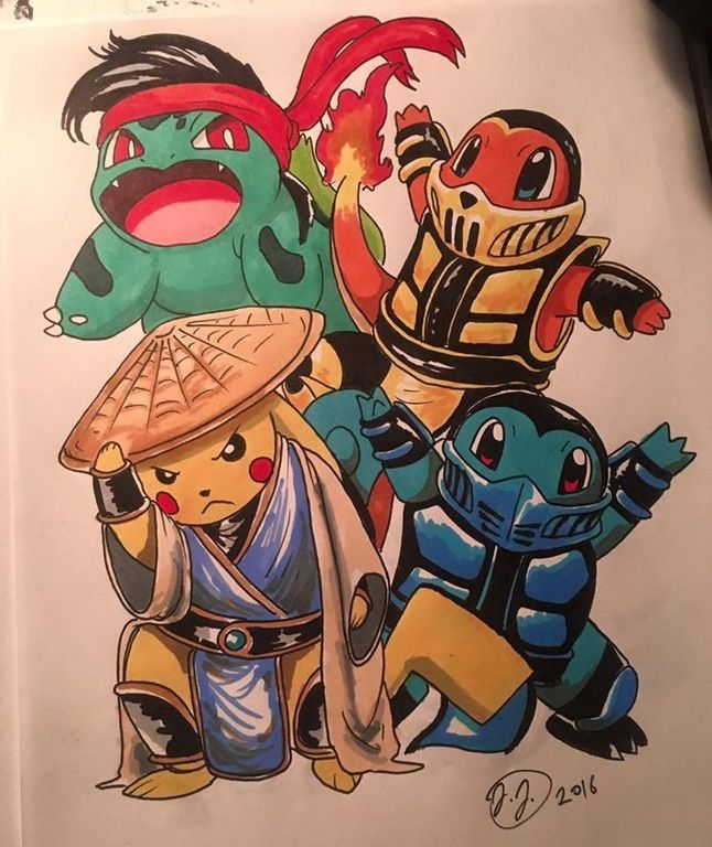 Excellent Pokemon / Mortal Kombat crossover. #gaming #videogames