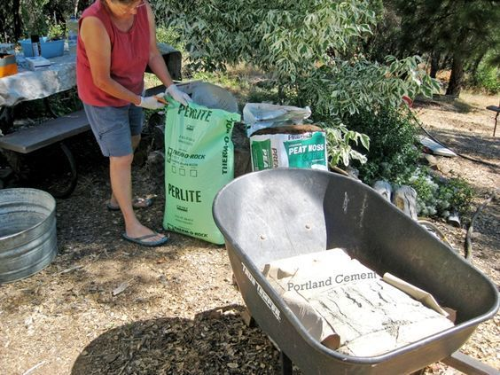 This is the best tutorial,with pictures, I have found to make Hypertufa planters. Equal parts portland cement, peat moss and perlite. Lighter than stone planters, but weather like them.