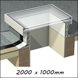 EG R19 - Glass Skylight Roof Window (1140mm x 2140mm Double Glazed)