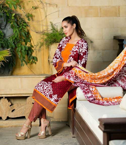 Monsoon Printed Cambric Suit collection By Al-Zohaib Textile AZ_4A