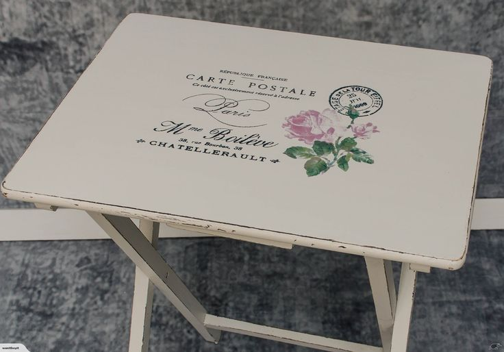 FOLD UP TABLE - FRENCH STYLE - SHABBY CHIC | Trade Me