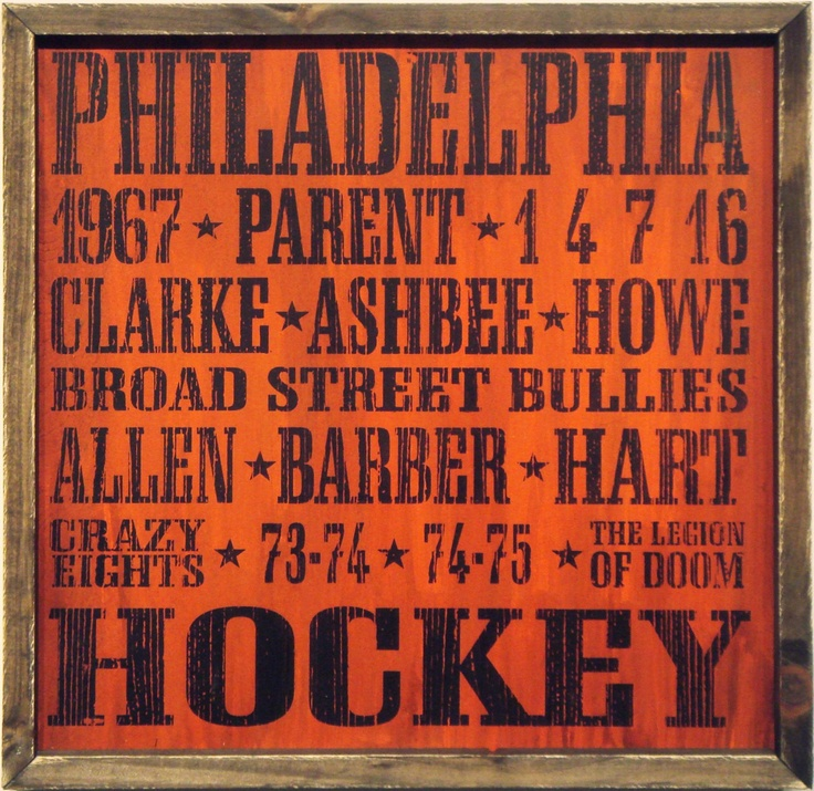 "Country Marketplace - Vintage #PhiladelphiaFlyers Wood Sign 18"" x 18""(http://www.countrymarketplaces.com/vintage-philadelphia-flyers-wood-sign-18-x-18/)"