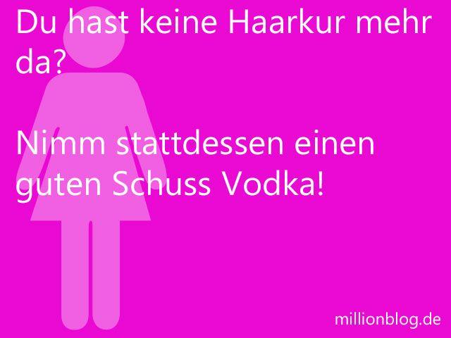 Vodka als Haarkur