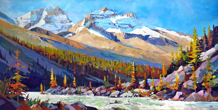 "'Long Light' 48"" x 96"" Acrylic on Canvas by Randy Hayashi"