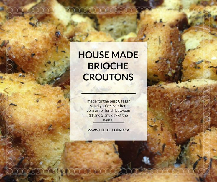 Come on down for lunch today between 11-2 and enjoy home made brioche croutons on the world's best caesar salad!