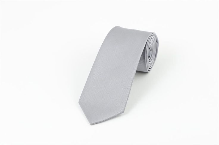 Silver Self Stripe Necktie