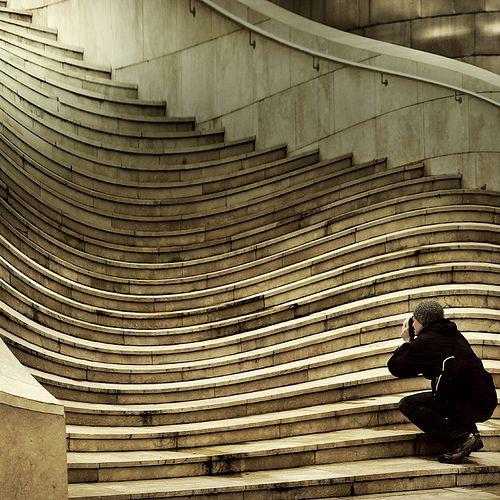 Unique Wavy Stairs.