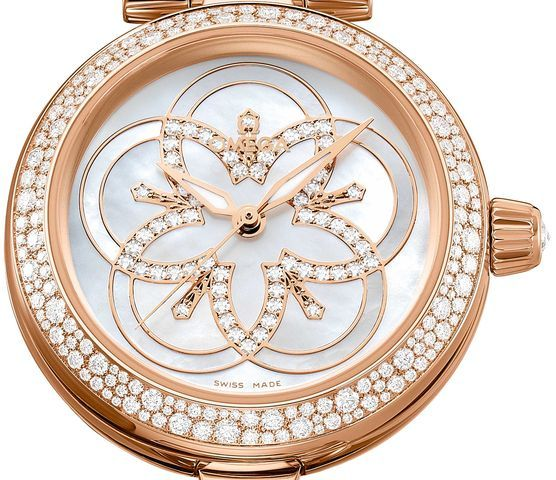 OMEGA LADIES WATCH LADYMATIC WITH #DIAMONDwatch LUXURY FLOWER-1 http://luxuryvolt.com/2013/11/diamonds-galore-on-new-omega-ladies-watches/