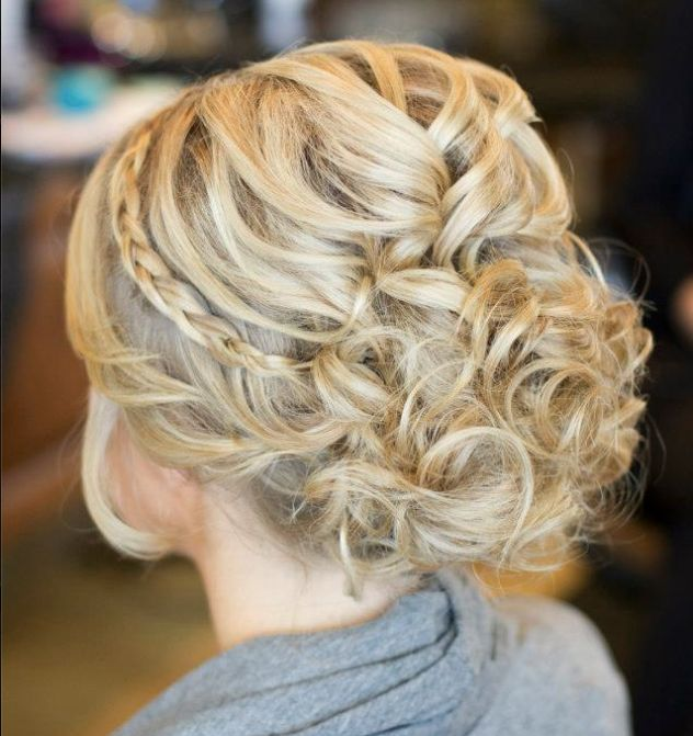 Bridal | Updo with Subtle Braid curls wedding hair ideas pmtslombard cute