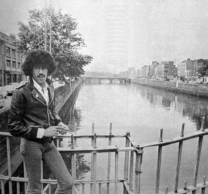 Phil Lynott of Thin Lizzy enjoying a stroll in Dublin