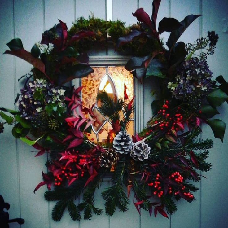 Made this lovely wreath today for the door
