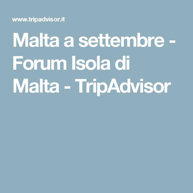 Malta a settembre - Forum Isola di Malta - TripAdvisor