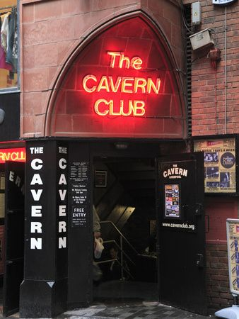 Cavern Club, Liverpool, England where we were dancing to Beatles songs.
