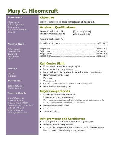 112 best resume templates images on pinterest free resume