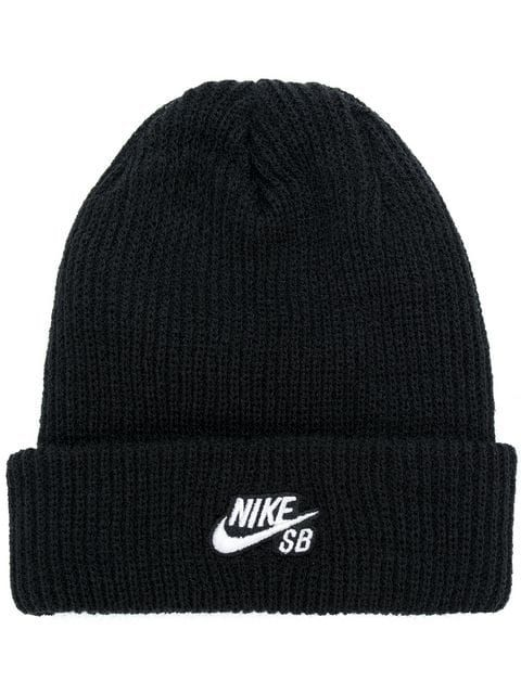 Nike Embroidered Logo Beanie - Farfetch  6aac7bfbfcd