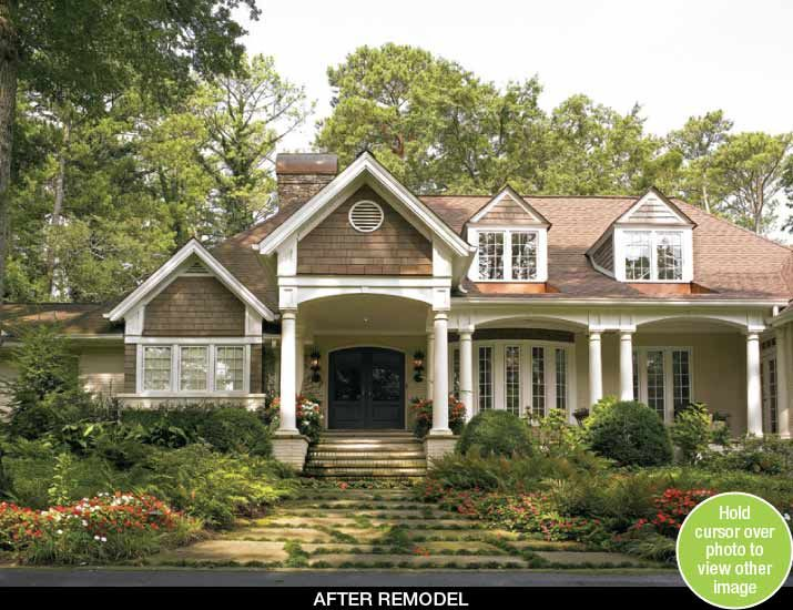 Ideas specifically for ranch style remodels a ranch home for Redesign front of house