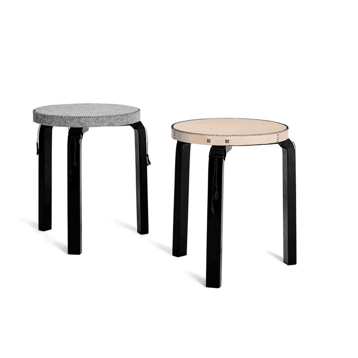 Owen Architecture | Aalto Stool Cover | Leather & Felt