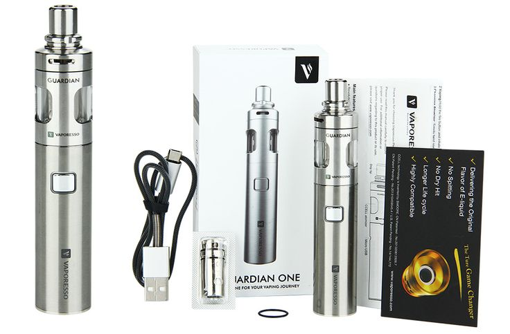Say hello to the #Vaporesso Guardian ONE E Kit! Perfect for new vapers, it supports a wattage up to 40W, has an e-liquid capacity of 2ml & battery of 1400mAh!