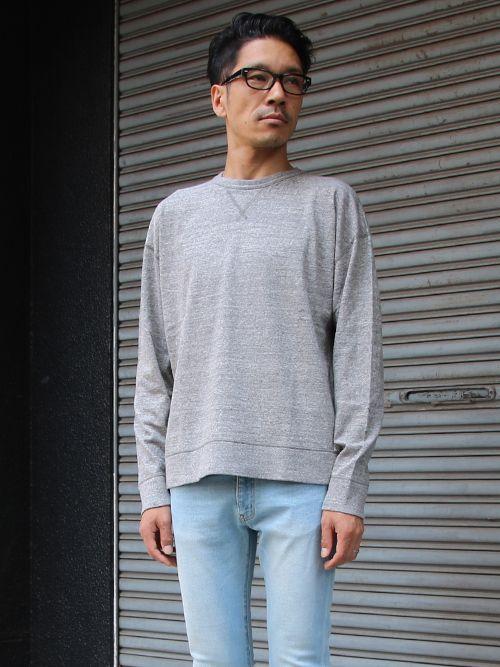 吊り編み天竺ガゼットクルーネック スウェットビッグ長袖Tee/Made In Tokyo for Upscape Audience - 【 Audience 】