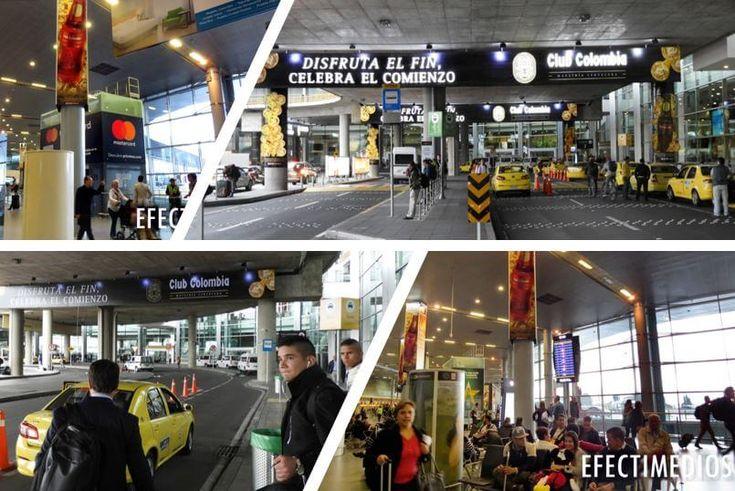 #ideasefectivas Excelente campaña para celebrar un nuevo año. ✈️ Elementos con alto impacto publicitario en el Aeropuerto Internacional El Dorado #mediosdooh