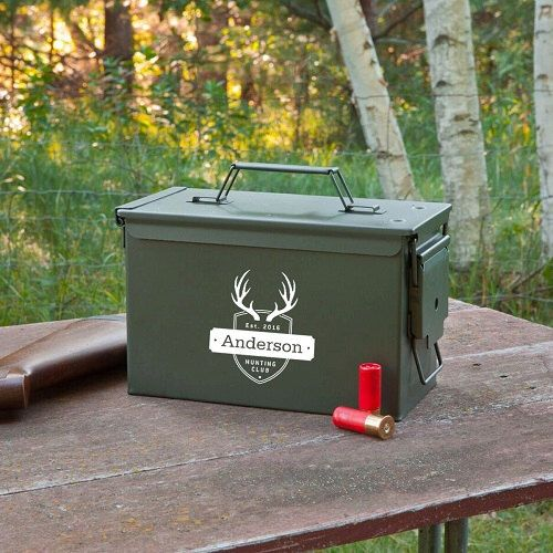 Personalized Ammo Box - Ammo Can- Gifts for Him - Groomsmen Gifts - Gifts for Dad - Mens Christmas Gifts - GC1409 by ManGiftsRus on Etsy https://www.etsy.com/listing/484608827/personalized-ammo-box-ammo-can-gifts-for
