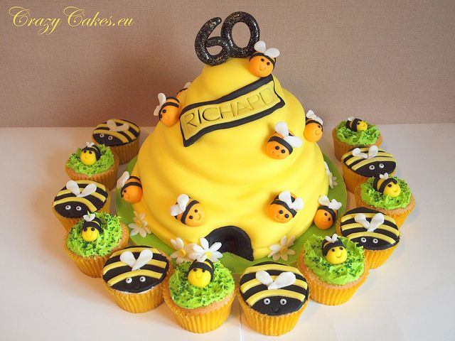 Bee Cake and Cupcakes