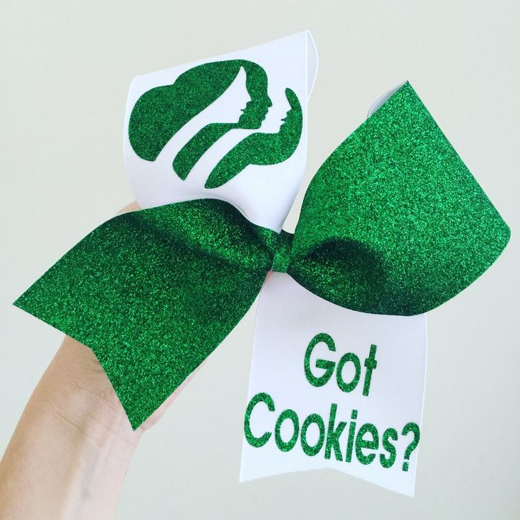 Girl Scout Got Cookies Big Glitter Bow Cheer Bow scouts
