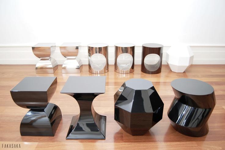 FA4 stool-side table BLACK