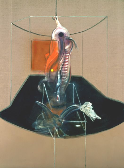 Francis Bacon, 'Carcass of Meat and Bird of Prey' 1980, Oil paint on Canvas. © The Estate of Francis Bacon / DACS London 2014. All rights reserved. - See more at: http://www.francis-bacon.com/blog/#sthash.RG7uElfb.dpuf
