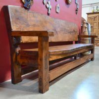 rustic outdoor benches