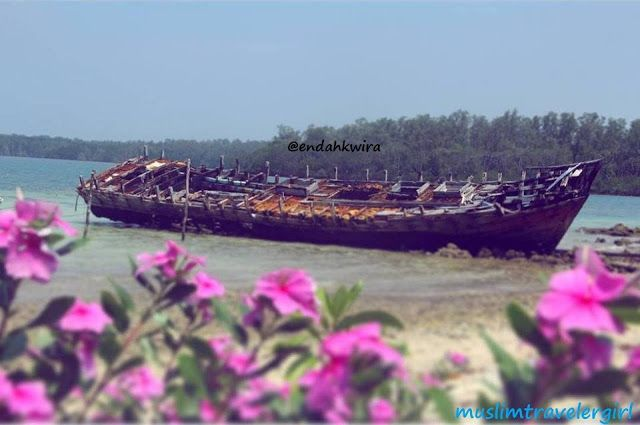 Handeuleum island at Ujung Kulon National Park in Pandeglang, Banten