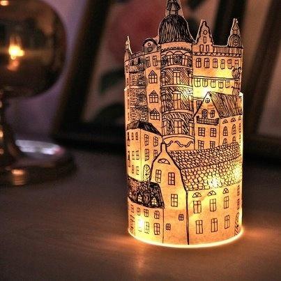 Vintage building lantern DIY