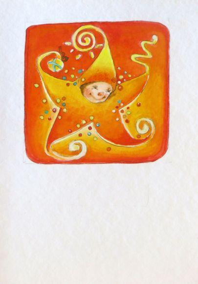 Happy Christmas Star!, orange
