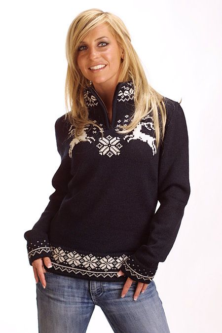 ❆❤ yes i believe that i need this sweater...let the hunt begin... ❤❄❤ Dale of Norway Lappland Sweater Women's (Black)