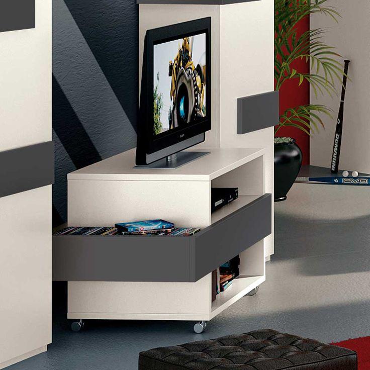 TV-Wagen in Weiß-Grau Anthrazit Jetzt bestellen unter: https://moebel.ladendirekt.de/wohnzimmer/tv-hifi-moebel/tv-racks/?uid=976f82fa-f337-528e-8157-8f1024103b98&utm_source=pinterest&utm_medium=pin&utm_campaign=boards #fernsehmöbel #rack #fernsehwagen #fernsehunterschrank #phonowagen #tische #tvhifimoebel #lowboard #fernsehtisch #unterschrank #möbel #phonomöbel #fernseher #tvtische #fernseh #phonotisch #tisch #tvracks #wohnzimmer #wagen Bild Quelle: pharao24.de