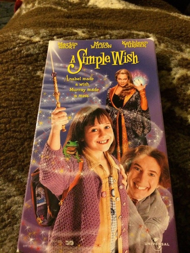 A Simple Wish (VHS, 1997) Martin Short, Mara Wilson, Kathleen Turner VCR Tape  | eBay