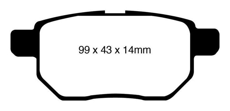 EBC 2010 Toyota Prius/ 2009-2013 Toyota Matrix Scion xB/ 2009-2010 Toyota Corolla XRS Pontiac Vibe/ 2011-2014 Scion tC Redstuff Rear Brake Pads