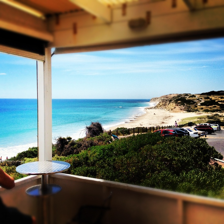 Awesome view from Star of Greece restaurant Port Willunga, McLaren Vale South Australia.