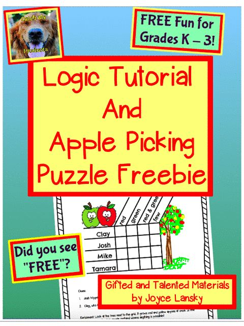 Teach your students how to solve logic puzzles with this FREE tutorial that includes a FREE logic puzzle and links to the free puzzles from the tutorial.