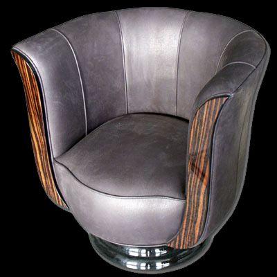 Art Deco: club chair. @designerwallace..