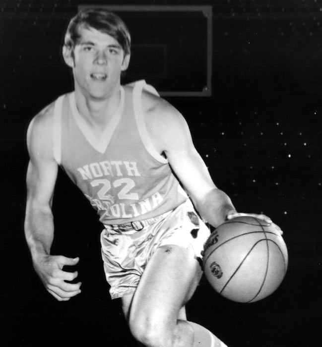 A young George Karl showcases his dribbling skills as a member of Dean Smith's North Carolina Tar Heels in the early 1970s. He joined the ABA's San Antonio Spurs upon ...
