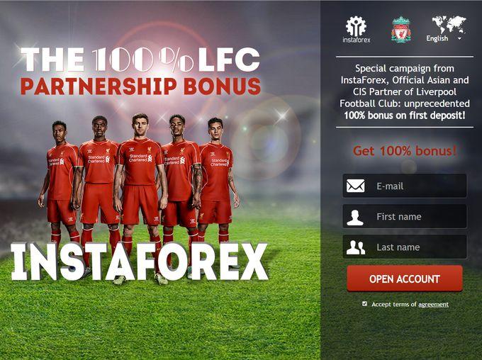 The 100% LFC partnership bonus Promo khusus dari InstaForex, Partner Resmi Asian dan CIS dari Liverpool Football Club Yang belum pernah terjadi sebelumnya bonus 100% pada deposit pertama!  Register Now :https://www.instaforex.org/id/forex_promo/100_lfc_bonus/?x=ratingfx